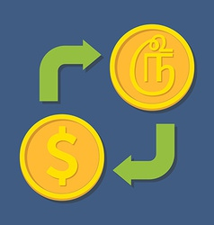 Currency exchange dollar and tamil rupee vector
