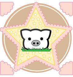 Cute little pig vector image