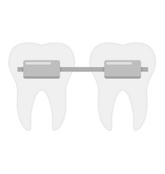dental brace icon flat style vector image vector image