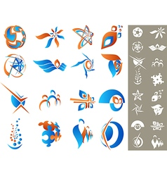 Design elements set 2 vector image vector image