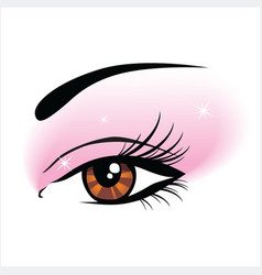 eye makeup vector image