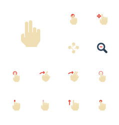 Flat icons sensory nudge hold and other vector