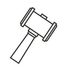 hammer wood gavel icon vector image vector image