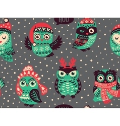 Hand drawn seamless pattern with christmas vector
