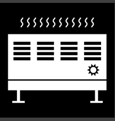 Heat con it is the white color icon vector