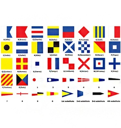 International maritime signal flags vector