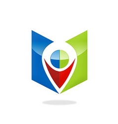 Location gps position icon logo vector