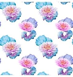 Lotus flowers pattern vector