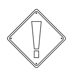 Pictogram warning alert attention sign icon vector