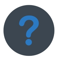 Question flat smooth blue colors round button vector