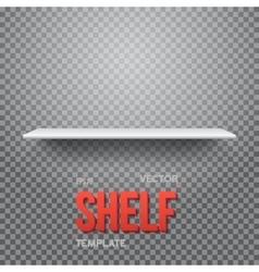 Realistic Shelf EPS10 Empty Shelf for vector image