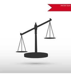 Scales of justice black icon and jpg flat vector