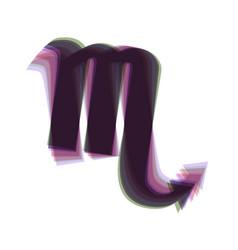 Scorpio sign colorful icon vector