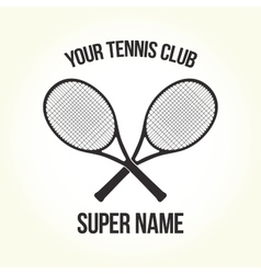 Tennis club logo vector image