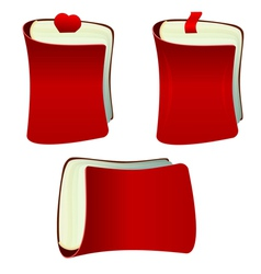 The red notebook with bookmark vector image