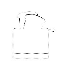 Toaster simple sign black dotted icon on vector