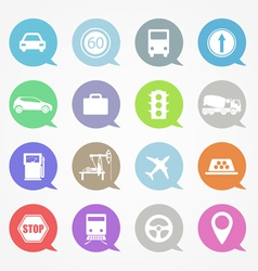 Transportation web icons set vector image
