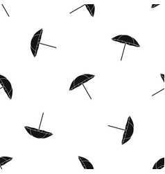 umbrella pattern seamless black vector image vector image