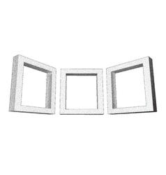 Vintage rectangular frames with dotwork gradient vector image vector image