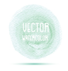 Green watercolor stain isolated on white vector
