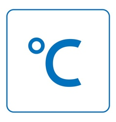 Celsius degree icon vector