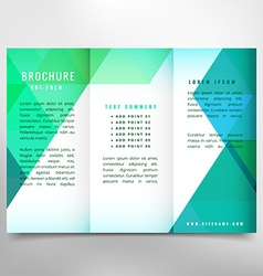 Trifold brochure design vector