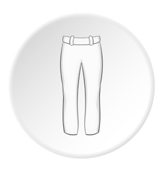 White baseball player pants icon cartoon style vector