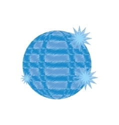 Disco ball party icon design vector