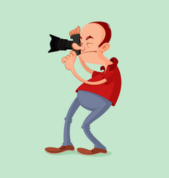 photographer with camera vector image