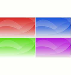 set of abstract gradient backgrounds for the vector image