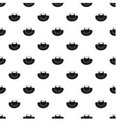 cowboy hat pattern vector image