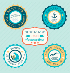 collection of vintage retro grunge summer labels vector image