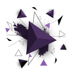 Purple triangle abstract on white background vector