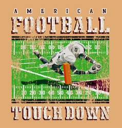 touchdown football rules vector image