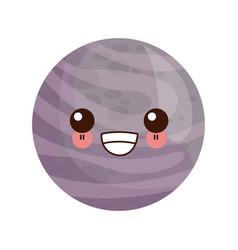 Kawaii planet of the solar system cartoon image vector