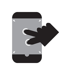 Zoom in smart phone vector