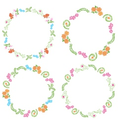 Summer frames with flora and fauna vector