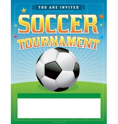 Soccer Tournament Flyer vector image