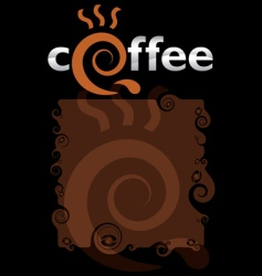 template for the coffee menu vector image