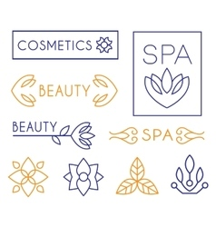Beauty and cosmetics logos vector