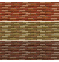 Road and wall design with bricks vector