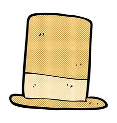 Comic cartoon old hat vector