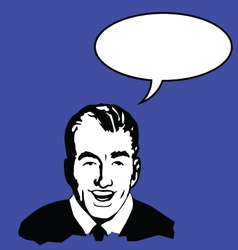 man with speech bubble vector image