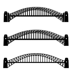 Metal sydney harbour bridge black symbol vector
