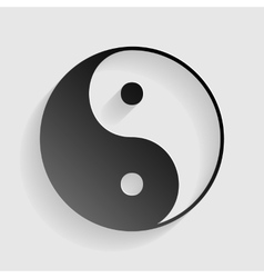 Ying yang symbol of harmony and balance black vector