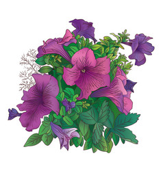 art flowers-1 vector image