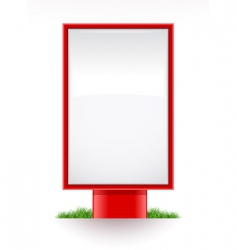 blank advertising stand city light vector image
