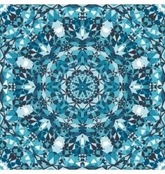 Blue decorative kaleidoscope pattern vector