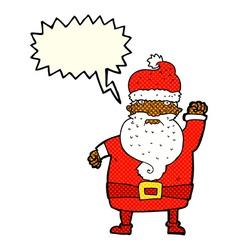 Cartoon angry santa claus with speech bubble vector
