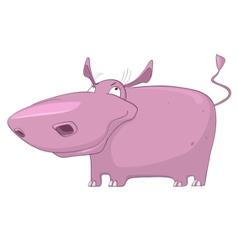 Cartoon character hippopotamus vector